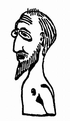 Satie autoportret Projet Buste 1913