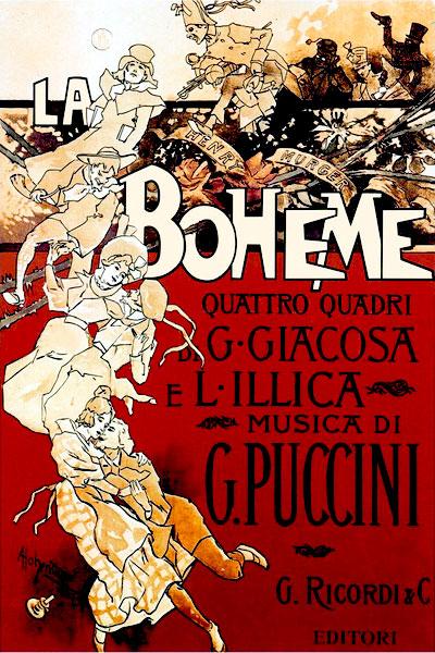 La Bohéme by Giacomo Puccini - 1896 poster