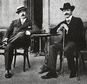 Arturo Toscanini and Giacomo Puccini, ca. 1900