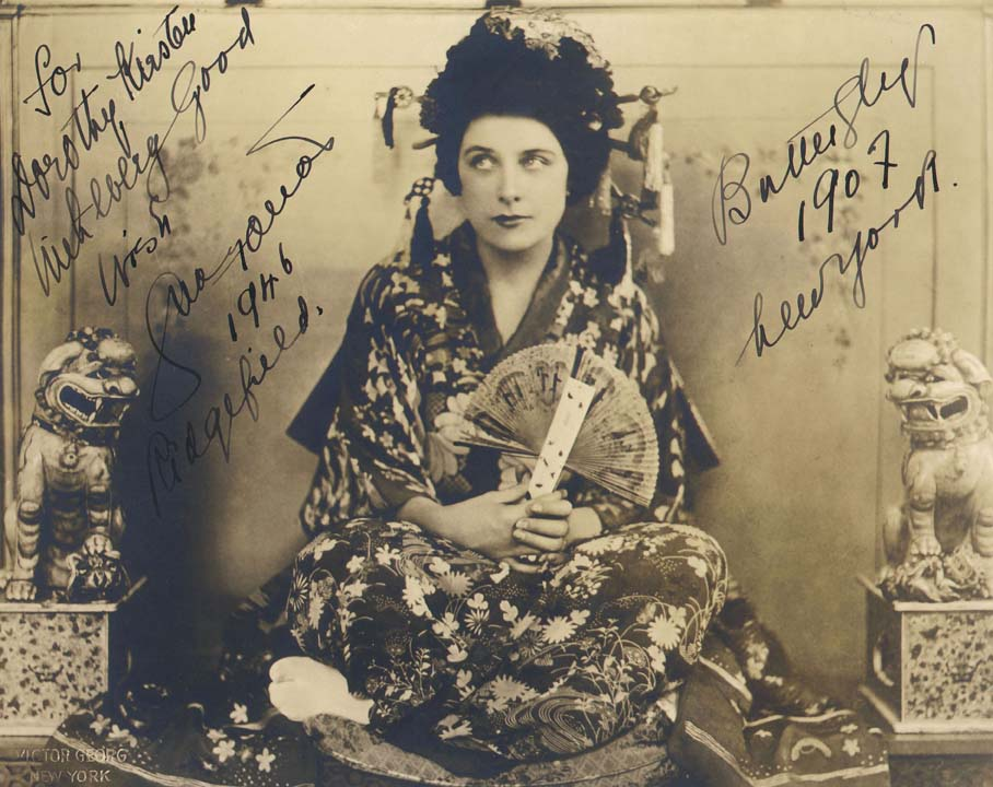 Geraldine Farrar as Madama Butterfly, 1907